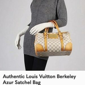 Louis Vuitton Damier Berkeley Azure Satchel Bag